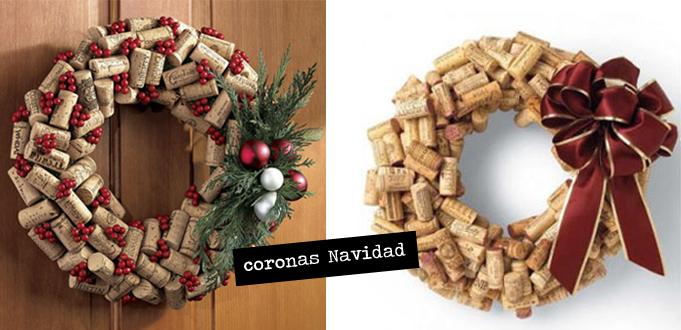 coronas Navidad tapones corcho