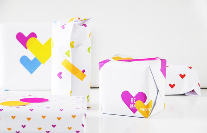 papel regalo san valentin
