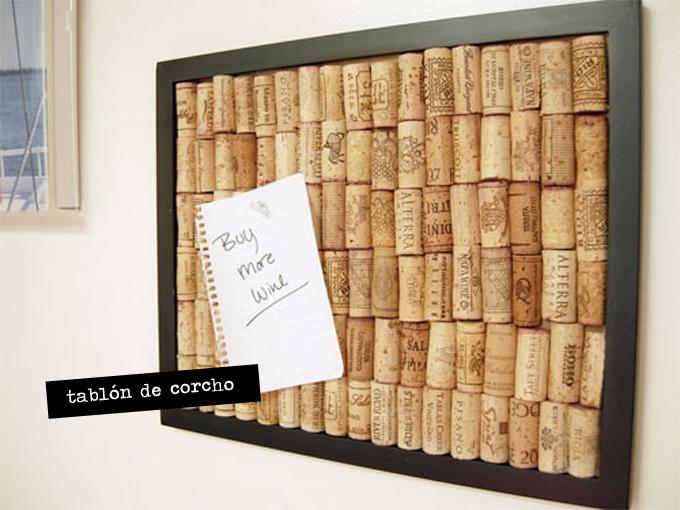 Diy con tapones de corcho for Tablon de corcho grande