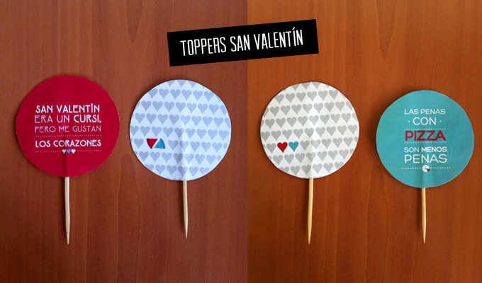 Imprimibles Toppers San Valentin