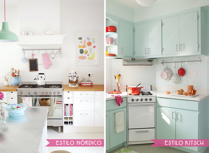 cocinas estilo nordico vs kitsch
