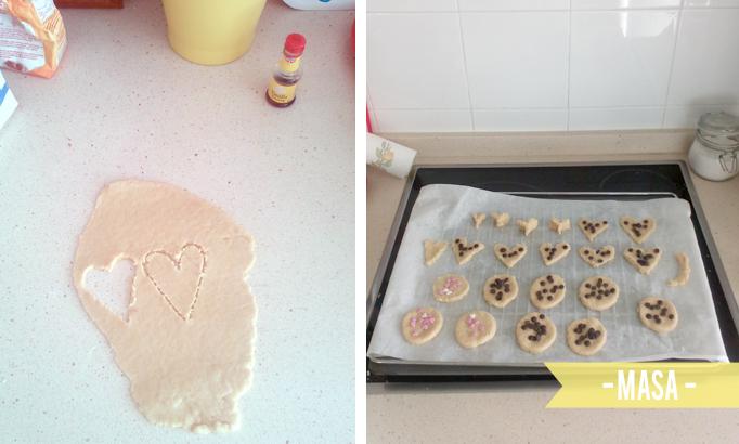 masa galletas San Valentin