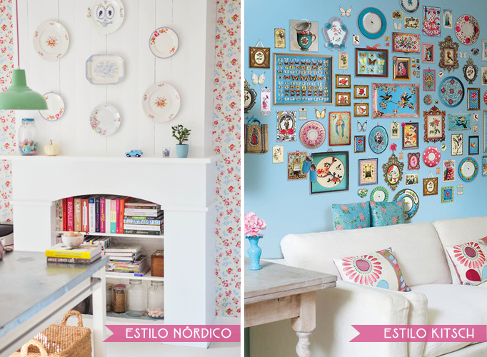 pared estilo nordico vs kitsch
