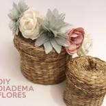 diy diadema flores