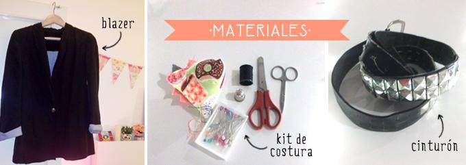 materiales diy chaleco de moda