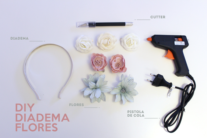 materiales diy diadema