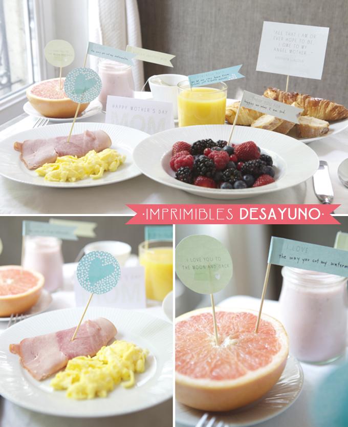imprimibles desayuno dia de la madre