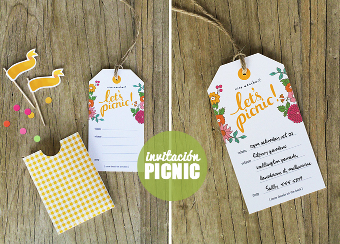 invitacion picnic