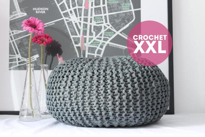 Patrones crochet xxl - Como hacer un puff de trapillo ...