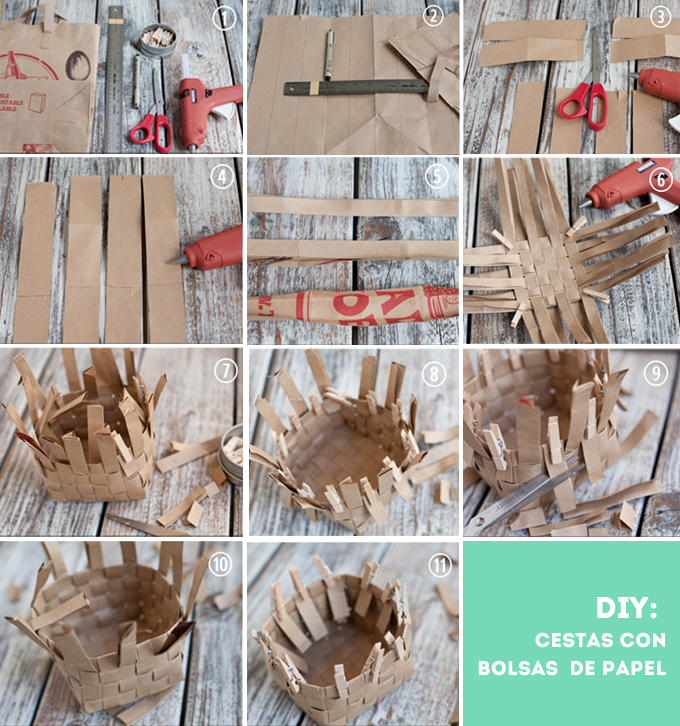 diy cestas papel