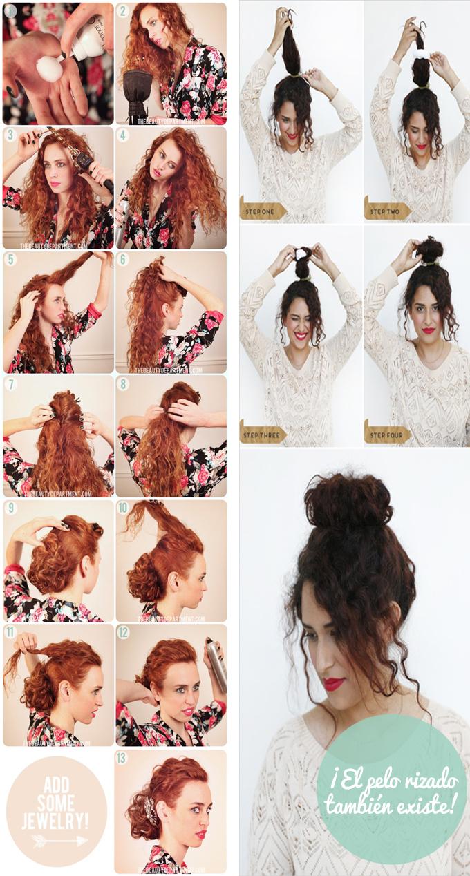 ideas peinados rizado