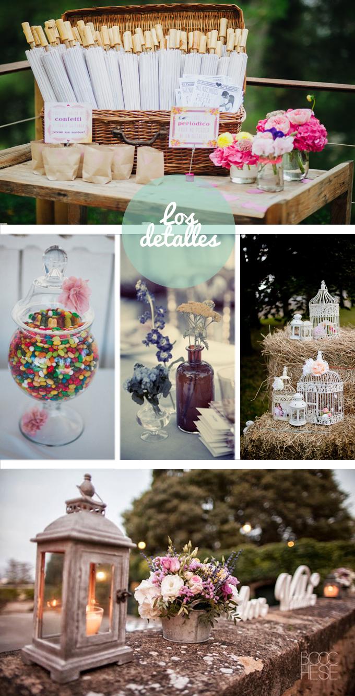 inspiracion detalles boda campo