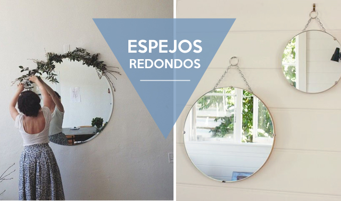 Decoracion hispter espejos redondos bonitismos for Decoracion de pared con espejos redondos