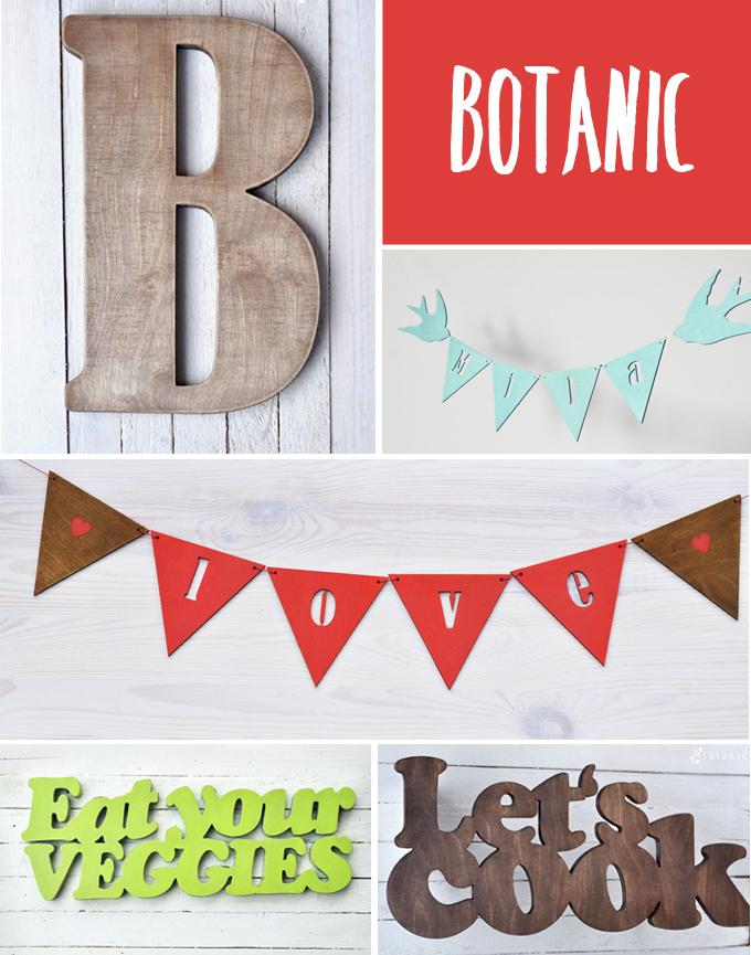 letreros madera - botanic