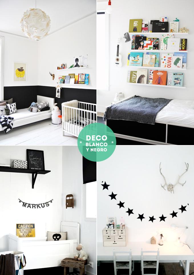decoracion peques - blanco y negro