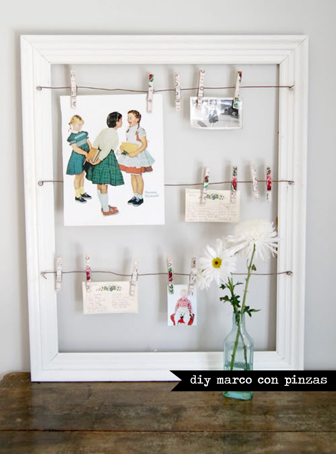 Diy marco de fotos for Old picture frame projects