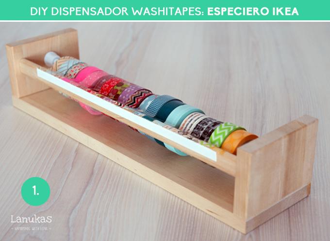 diy dispensador washitapes - especiero ikea