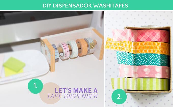 diy dispensador washitapes