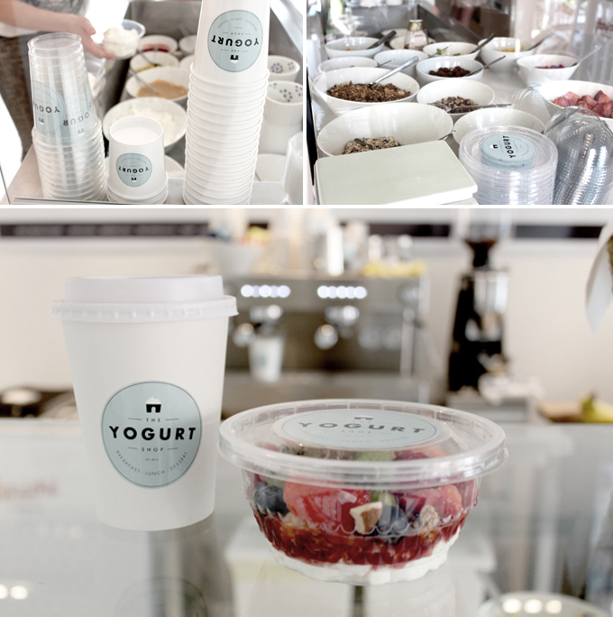 packaging - the yogurt shop