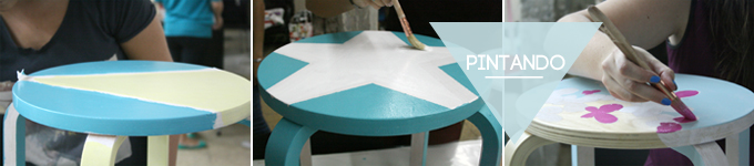 pintando la silla
