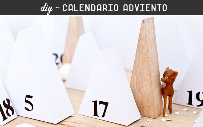 diy calendario adviento triangulos