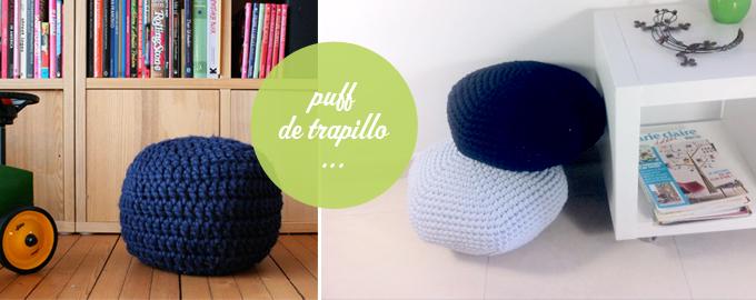 Patrones de trapillo o crochet xxl - Puff de trapillo ...