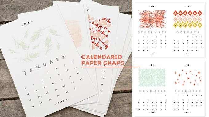 calendario 2014 - paper snaps