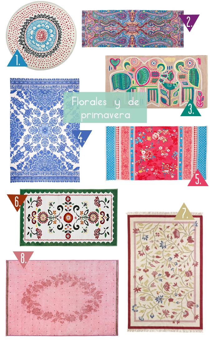 alfombras florales