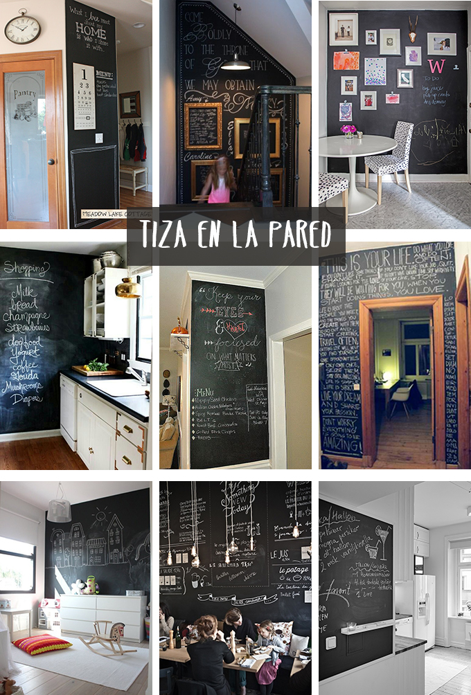pizarra pared