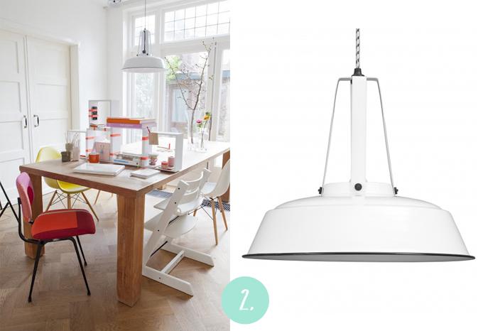 lámpara industrial blanca