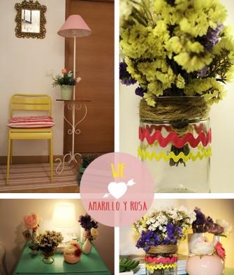 rosa amarillo casa