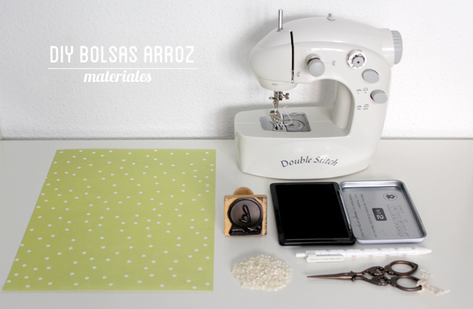diy bolsas arroz bodas - materiales