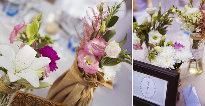 centros mesa boda vintage