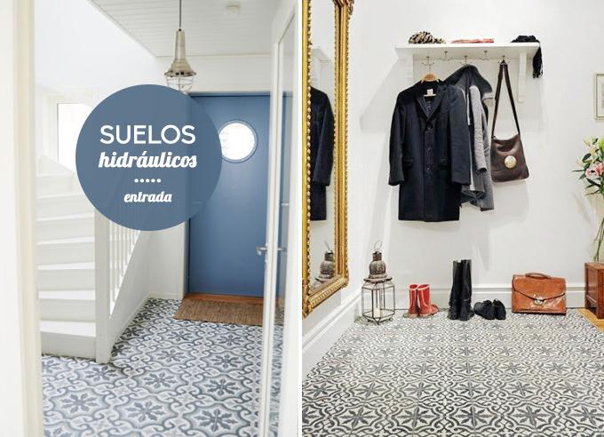 Decoraci n suelos hidr ulicos for Baldosas vinilicas pared