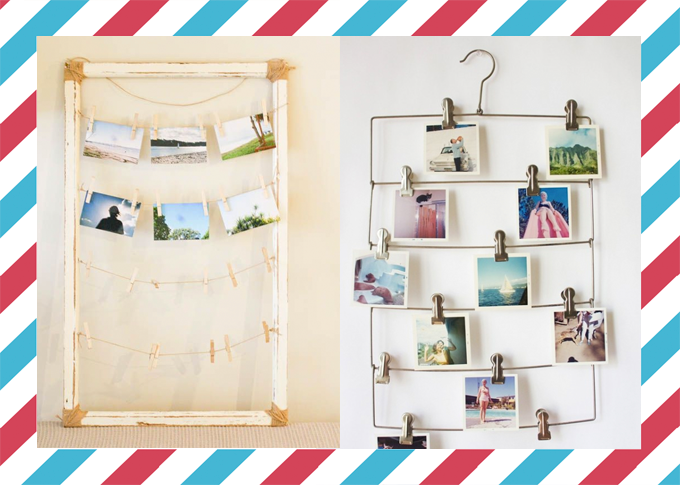 Decoracion con postales - Decorar salon con fotos ...