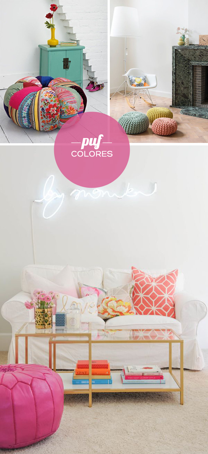decoracion puf colores