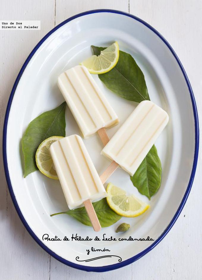 receta helado leche condensada y limon