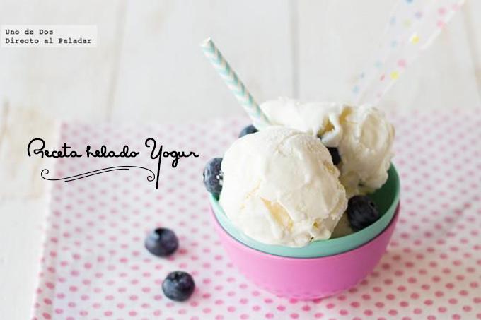receta helado yogur
