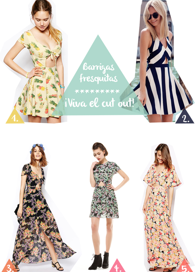 vestidos cut out