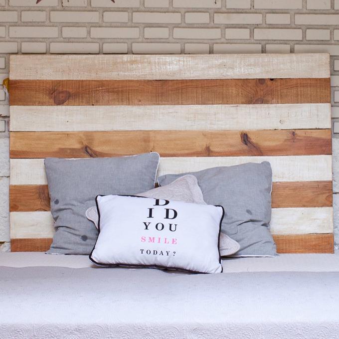 cabcero madera rayas