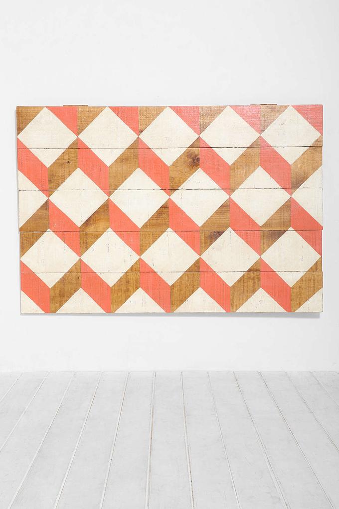 cabecero madera geometrico