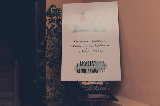 cartel bienvenida boda bonitista