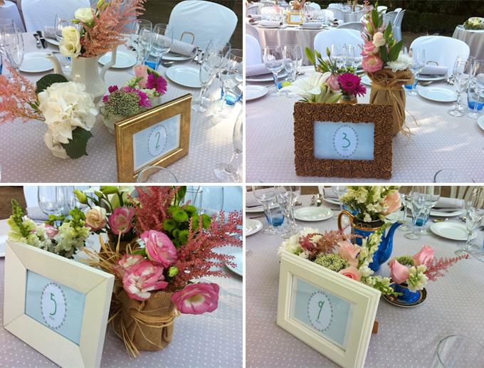 originales centros mesa - boda bonitista