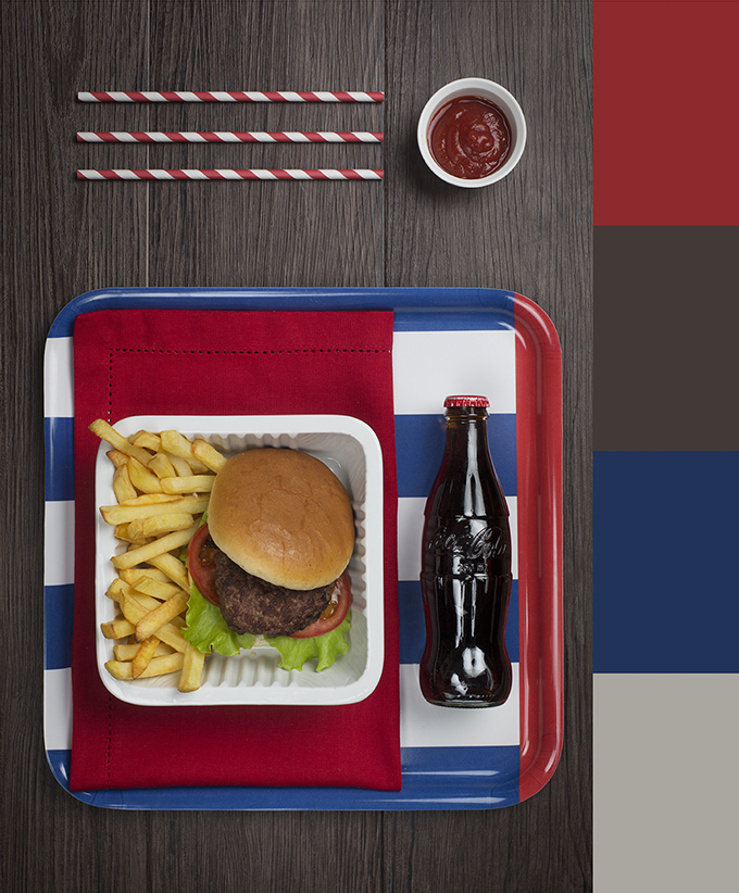 paleta colores hamburguesa