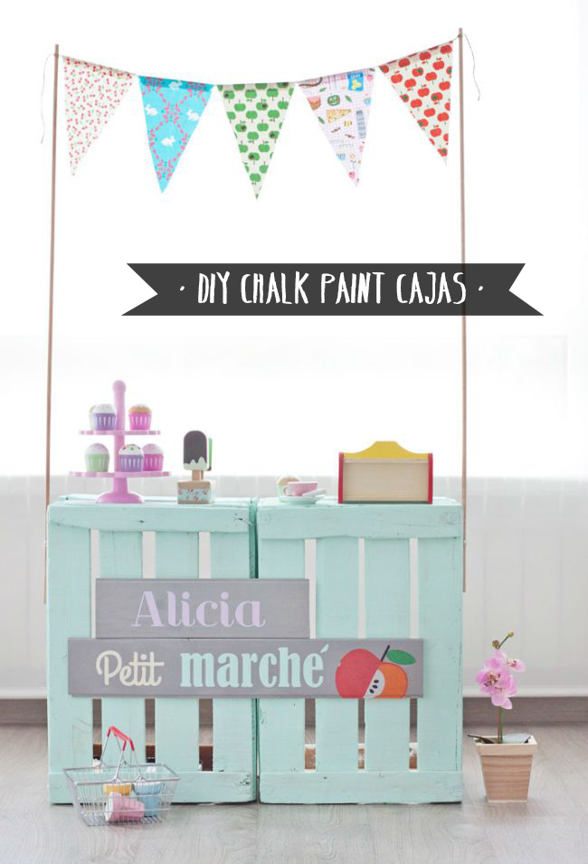 Diy chalk paint - Caja fruta decoracion ...