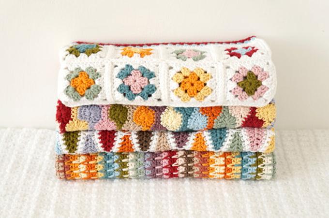 mantas crochet otoño