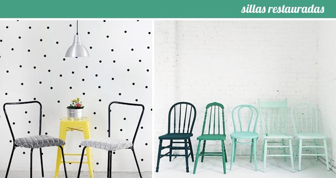 sillas restauradas