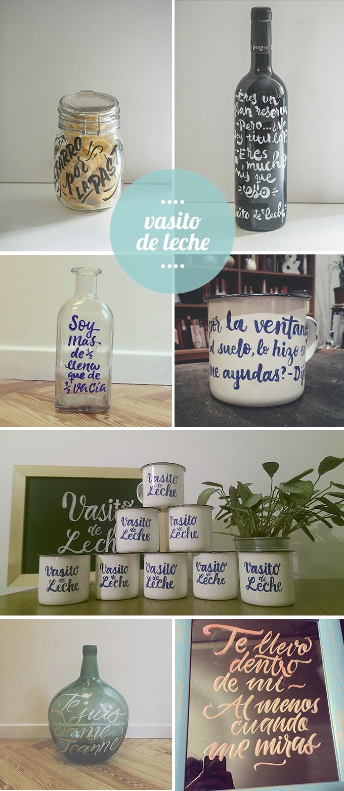 vasito de leche - estudio decoracion
