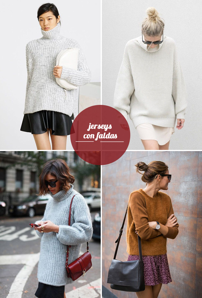 tendencias otoño - jerseys con faldas