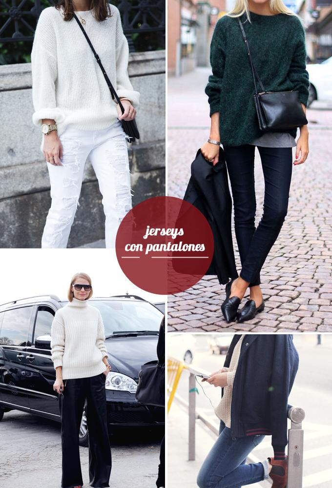 tendencias otoño - jerseys con pantalones